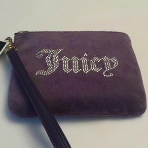 Juicy Couture Black Label Purple Velvet Wristlet